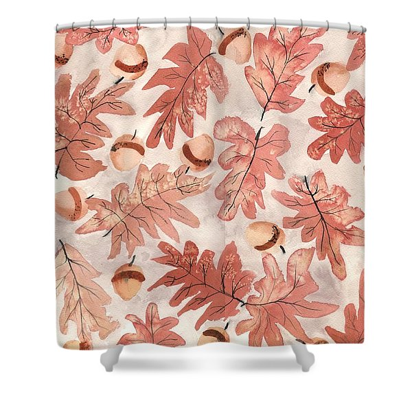 Oak Leaves And Acorns Shower Curtain