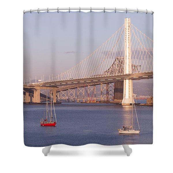 Oakland Bridge Shower Curtain