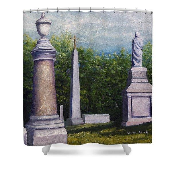 Oakwood Cemetery Jefferson Texas Shower Curtain