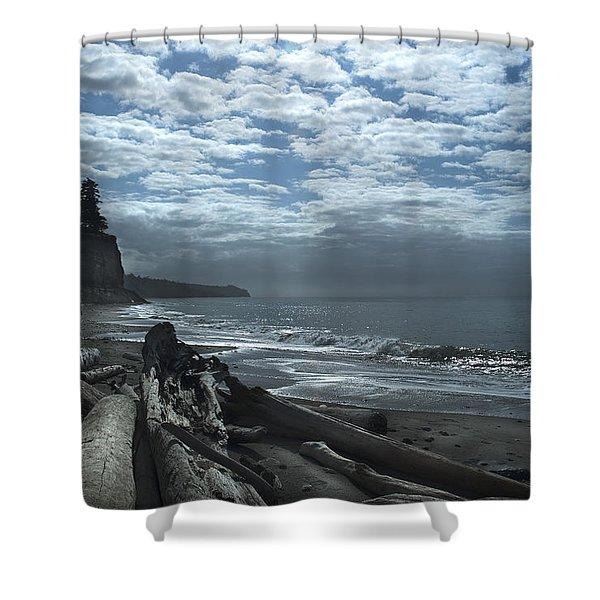 Ocean Beach Pacific Northwest Shower Curtain