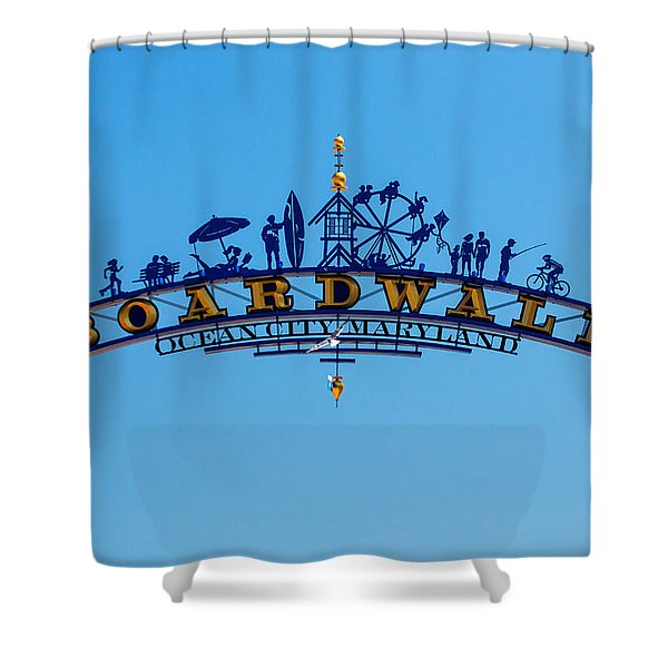 Ocean City Boardwalk Arch Shower Curtain