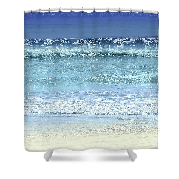 Ocean Colors Abstract Shower Curtain