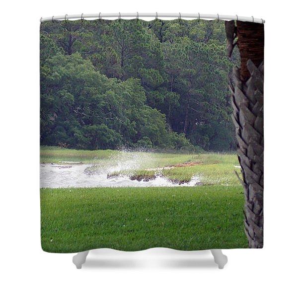 Ocean Spray At Hilton Head Island Shower Curtain