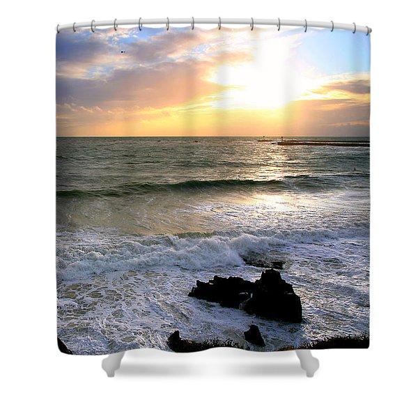 Ocean Sunset 84 Shower Curtain