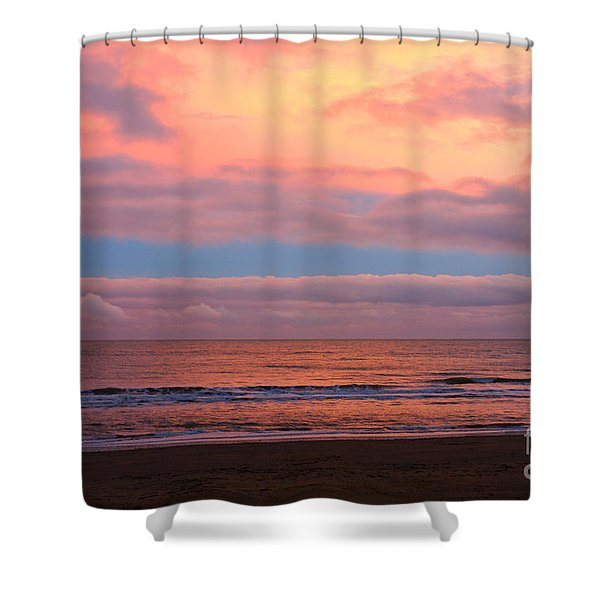 Shower Curtain featuring the photograph Ocean Sunset by Jeremy Hayden