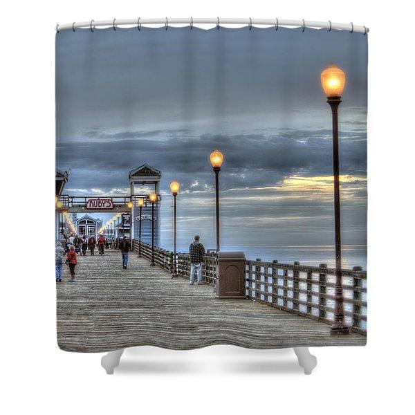 Oceanside Pier At Sunset Shower Curtain