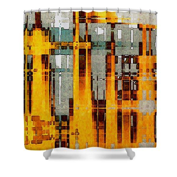 Ochre Urbanity Shower Curtain