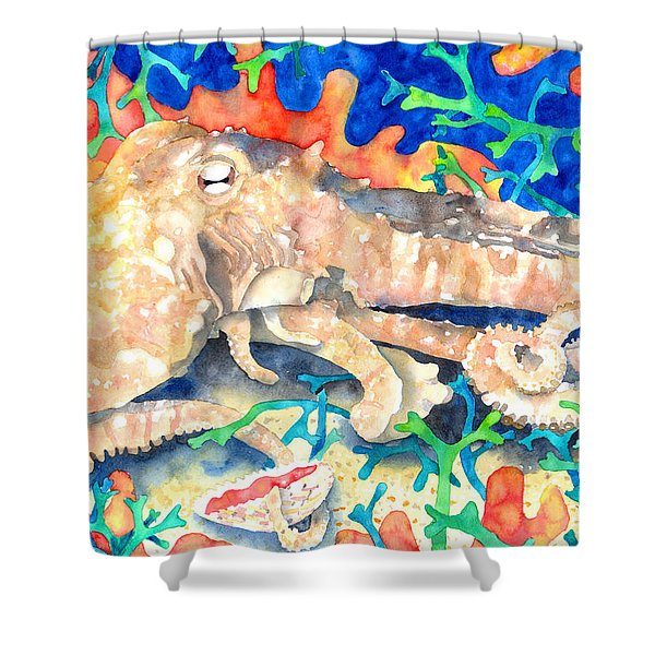 Octopus Delight Shower Curtain