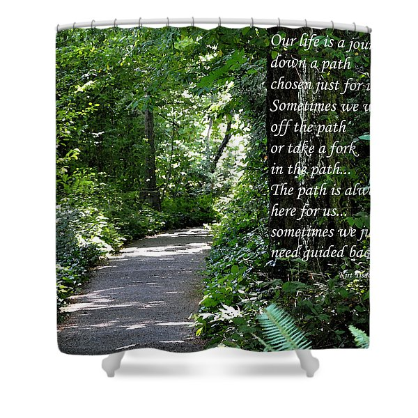 Off The Path Shower Curtain