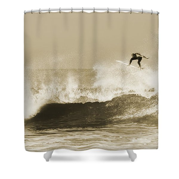 Shower Curtain featuring the photograph Off The Top by David Millenheft