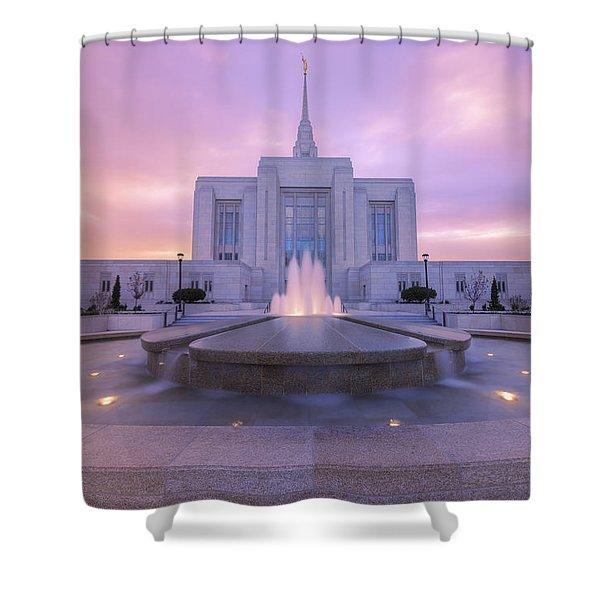 Ogden Temple I Shower Curtain