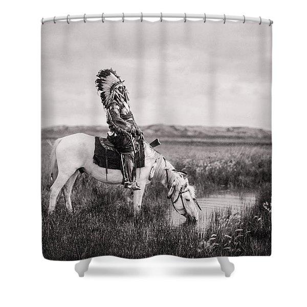 Oglala Indian Man Circa 1905 Shower Curtain