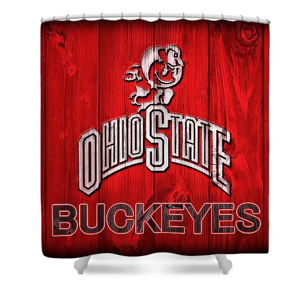 Ohio State Buckeyes Barn Door Vignette Shower Curtain