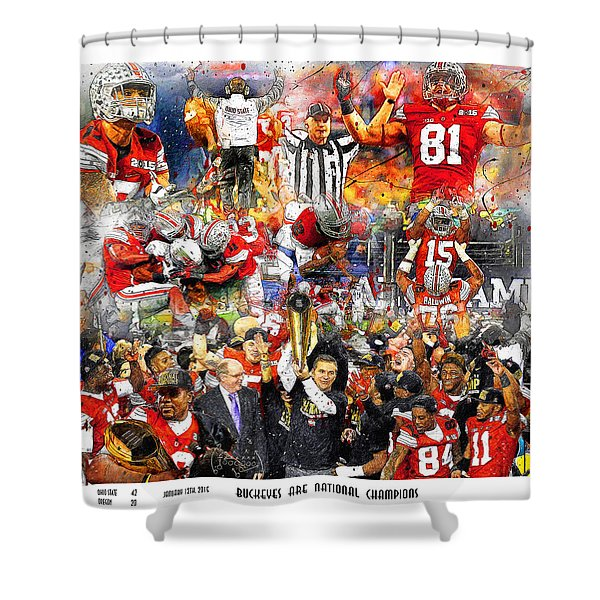 Ohio State National Champions 2015 Shower Curtain
