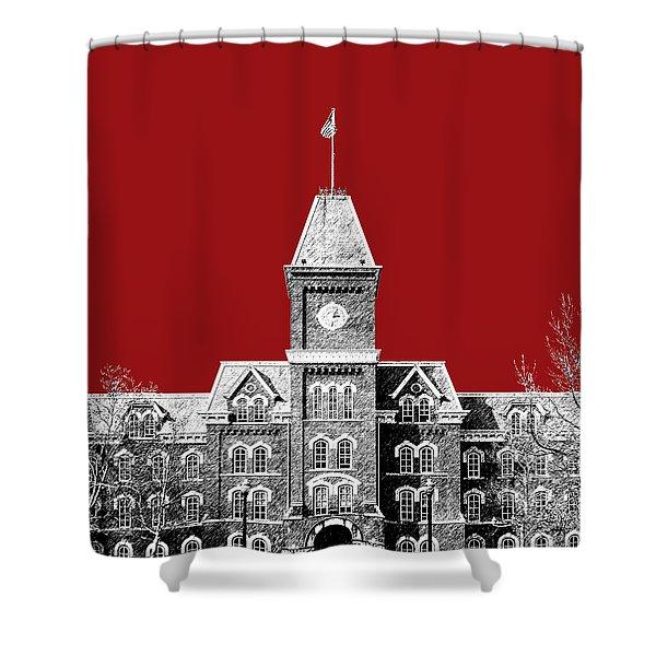 Ohio State University - Dark Red Shower Curtain