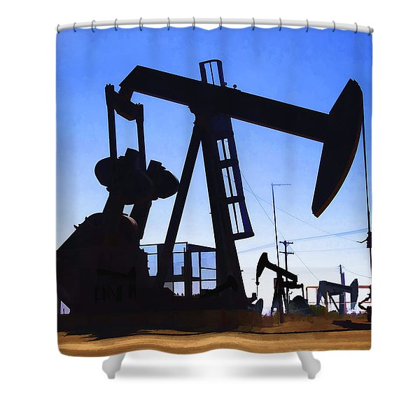 Oil Fields Shower Curtain