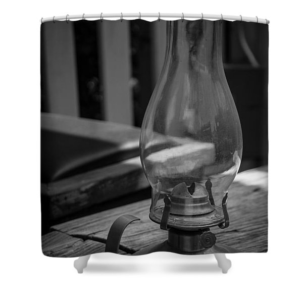 Oil Lamp Shower Curtain