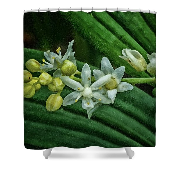 Oil Paint Wildflowers Indiana Dunes National Lakeshore Shower Curtain