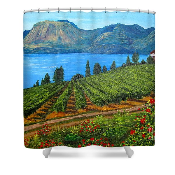 Okanagan Vineyard Shower Curtain