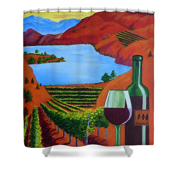 Okanagan Wine Country Shower Curtain