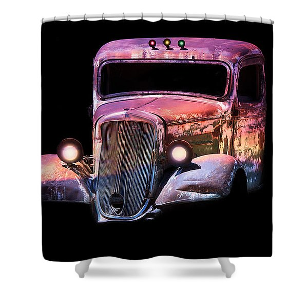 Shower Curtain featuring the photograph Old Antique Classic Car by Gunter Nezhoda