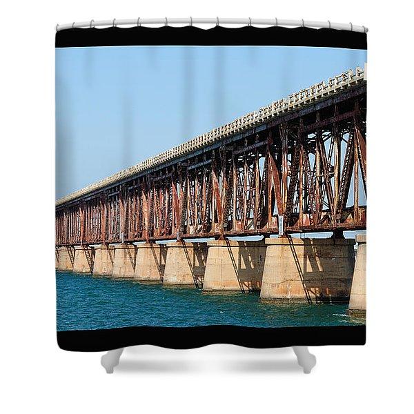 Old Bahia Honda Bridge 2 Shower Curtain