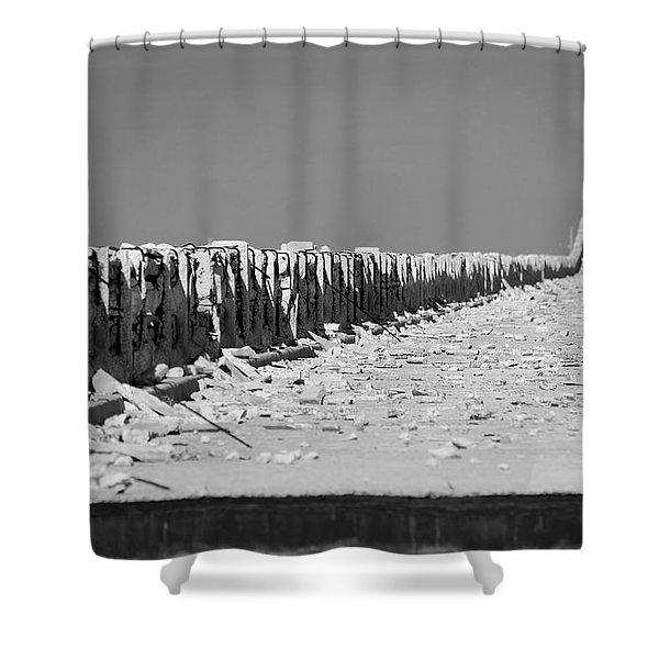 Old Bahia Honda Bridge Shower Curtain
