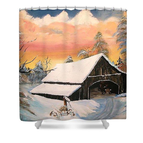 Old Barn Guardian Shower Curtain