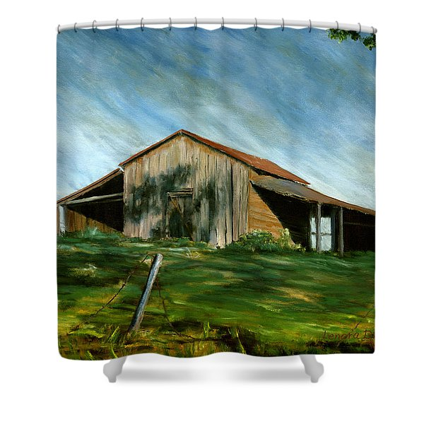 Old Barn Landscape Art Pleasant Hill Louisiana  Shower Curtain