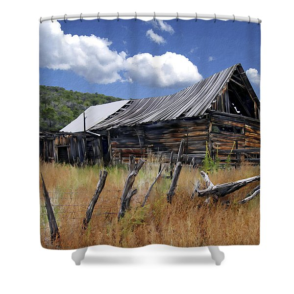 Old Barn Las Trampas New Mexico Shower Curtain