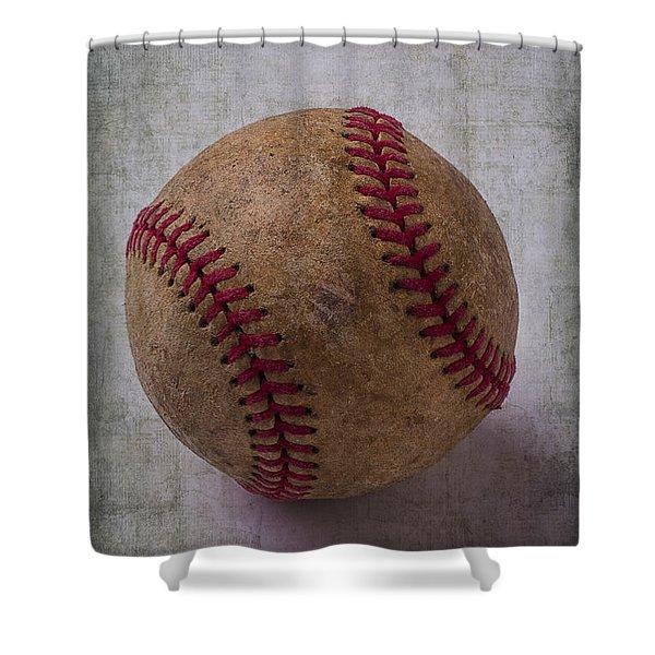 Old Baseball Shower Curtain