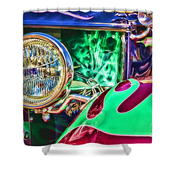Old Betty Ford Vintage Car By Diana Sainz Shower Curtain