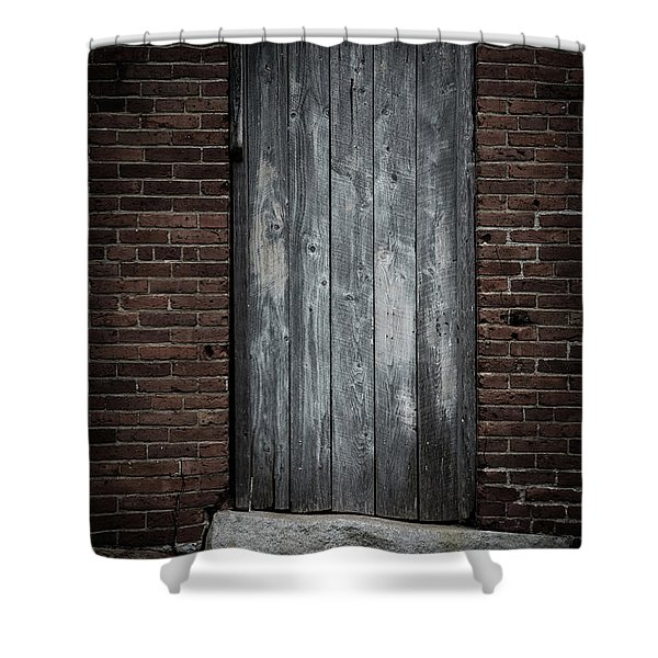 Old Blacksmith Shop Door Shower Curtain