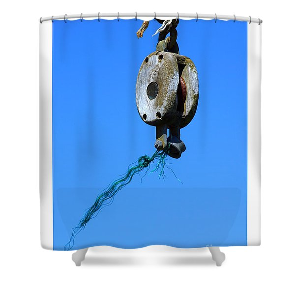 Old Block Shower Curtain