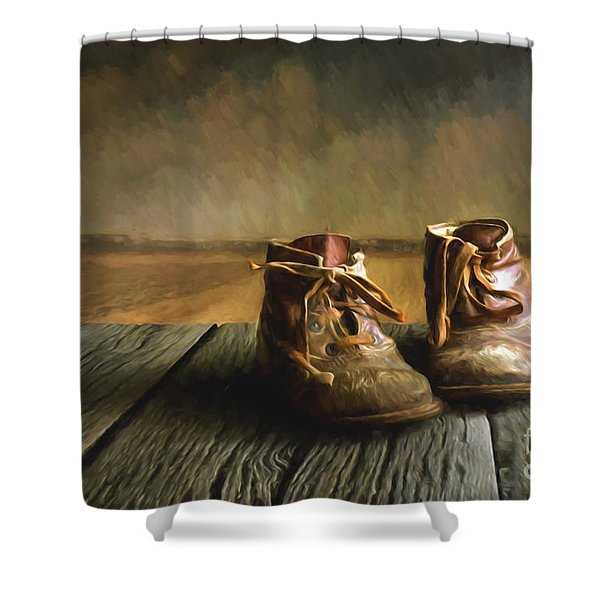 Old Boots Shower Curtain