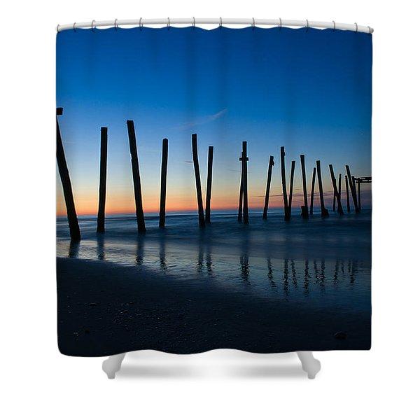 Old Broken 59th Street Pier Shower Curtain