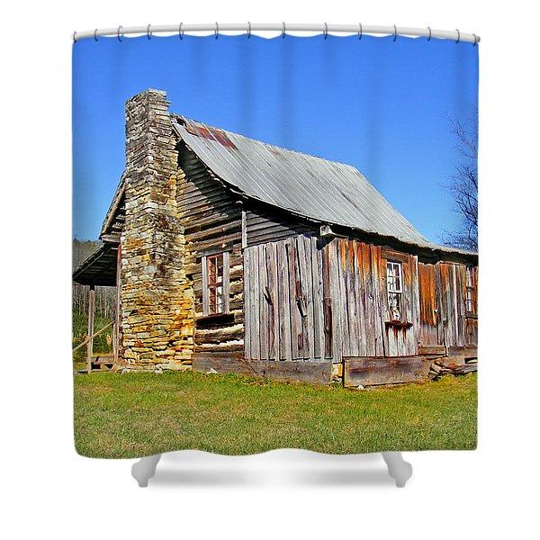 Old Cabin Along Macedonia Church Road Shower Curtain