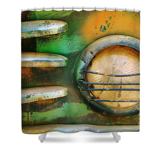 Old Car Headlight Shower Curtain