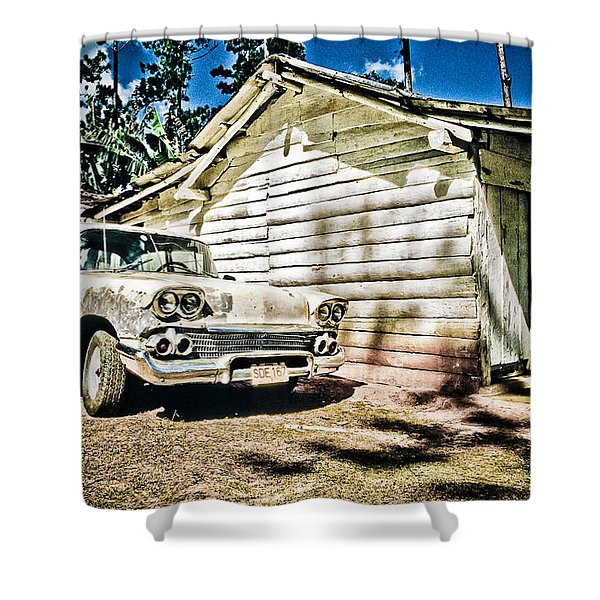 Old Car  Shower Curtain