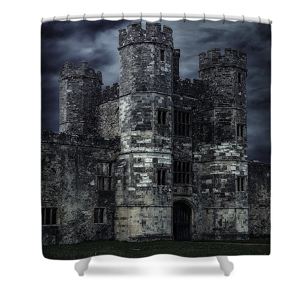 Old Castle At Night Shower Curtain