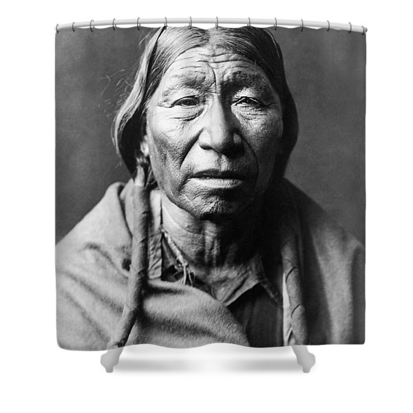 Old Cheyenne Man Circa 1910 Shower Curtain