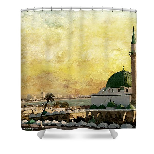 Old City Of Acre Shower Curtain