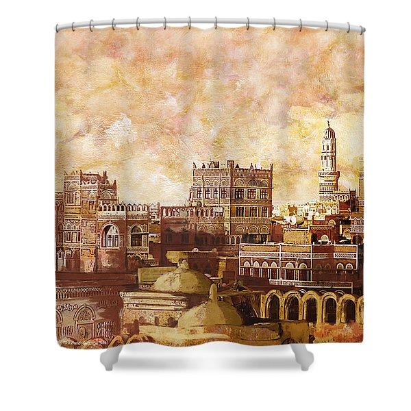 Old City Of Sanaa Shower Curtain