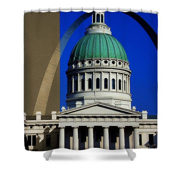 Old Courthouse Dome Arch Shower Curtain