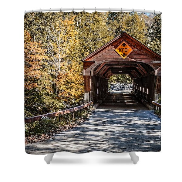 Shower Curtain featuring the photograph Old Covered Bridge Vermont by Edward Fielding