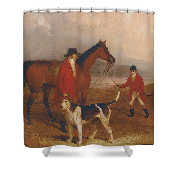 Old Druid With Richard King Sampson Shower Curtain