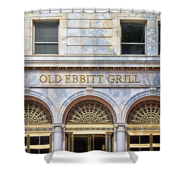 Shower Curtain featuring the photograph Old Ebbitt Grill by Jemmy Archer