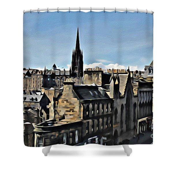 Olde Edinburgh Shower Curtain