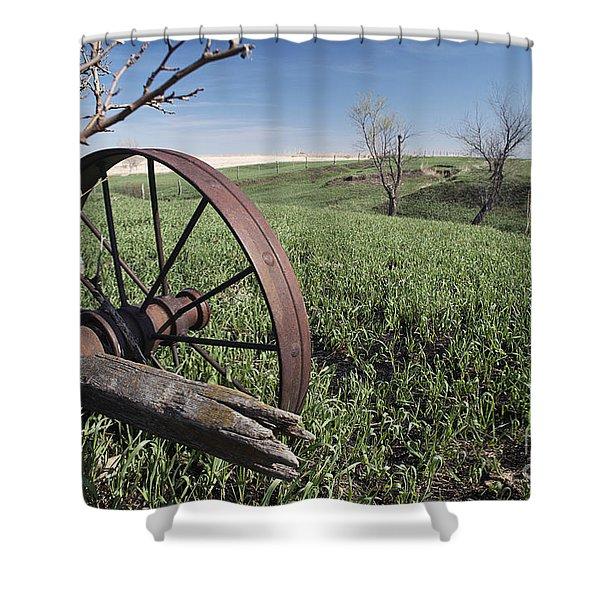Old Farm Wagon Shower Curtain