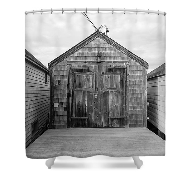 Old Fishing Shack Little Boars Head Rye Nh Shower Curtain